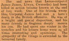 John James, Llwyn, Cwmerfyn
