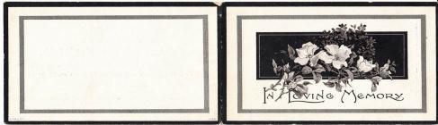 George Benjamin's funeral card