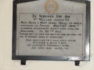 Memorial Plaque in Rehoboth, Taliesin