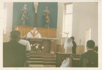 St Peter's Bargoed, interior 1970