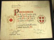 Certificate of Miss Elizabeth M. Davies