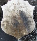 Memorial stone to James James, Llwyn, Cwmerfyn.