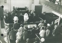 Wedding ceremony at Peniel chapel, Tremadog.