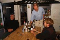 Skokholm island evening fare in the wheelhouse...