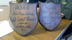 Two shields from Nantymoel BGC