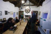 Skokholm wheelhouse with the island management...