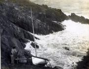 """Boat """"Storm Petrel"""" on Skokholm"""