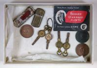 Box of coins and items