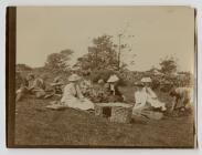 Photograph of a picnic scene with Dr Mary...
