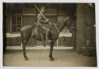 Frank Shepherd on his horse during WW1