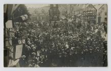 Photo of Ruthin Square – people Celebrating the...
