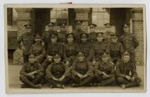 Photo of Walter Crane with his regiment, the...