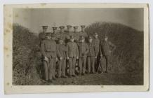 Photo of Walter Crane with his regiment, 4th...