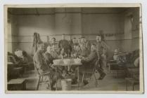 Photo of Walter Crane with his fellow soldiers...