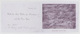 WW1 Christmas card sent home from the front 1917