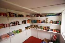 Skokholm shop for visitors to buy their food...