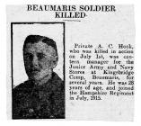Beaumaris Soldier Killed - North Wales...