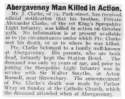 Abergavenny Man Killed in Action - Abergavenny...