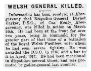 Welsh General Killed - Cambrian Daily News 03...