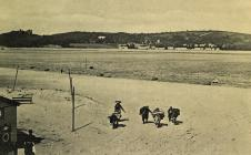 Cockle Gatherers on Ferryside Sands c1906