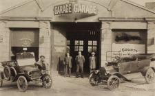 County Garage, Llandeilo with Ford Cars, 1911