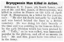 Brynygwenin Man Killed in Action - Abergavenny...