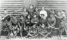 Members of the 8th Battalion Gloucestershire...