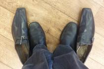 Pair of 19th century outsize shoes