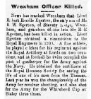 Wrexham Officer Killed - Denbighshire Free...