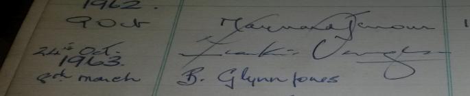 Frankie Vaughan Signature