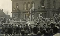 Unveiling of R.W.F. Memorial at Wrexham c1920