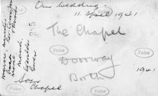 Back of Photograph taken 11 April 1941