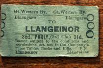 Early railway ticket to Llangeinor