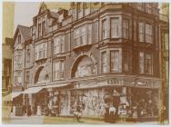 Cerdyn Post o Siopau Edwardaidd Aberystwyth 1910