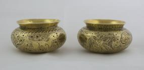Brass cups from the Andes, Patagonia owned by...