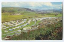 Post Card. Clarach Bay caravan park, Ceredigion