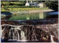 Weir at Felin Newydd, Rheidol Hydro Electric...