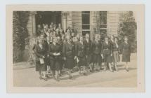Chief guide and leaders leaving Broneirion at...