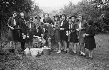 Llanfair Caereinion Girl Guides camping at...