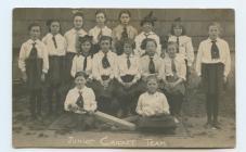 Junior cricket team, Howells School Porthcawl