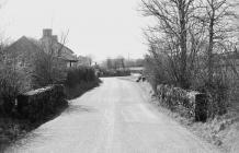 LLANGYBI OLD BRIDGE;PONT LLANGYBI, LLANGYBI