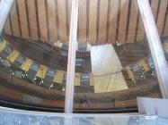 Looking down in to Assembly Debating Chamber...
