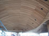 Welsh Assembly - coved convex section of timber...