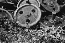 Discarded Train Wheels 1980