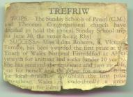 Cutting about news in Trefriw