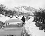 Snowplough at Cwmystwyth, Jan 1965