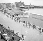 Milk Race arriving at Aberystwyth, 8 June 1964
