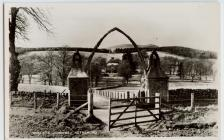 Whale's jawbone arch at Netherurd
