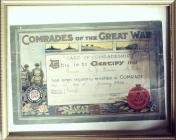 Card of Comradeship