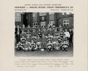 Newport v WRU Presidents XV 25/9/1974